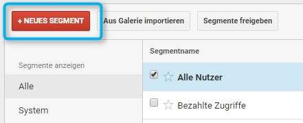 Neues Segment Button