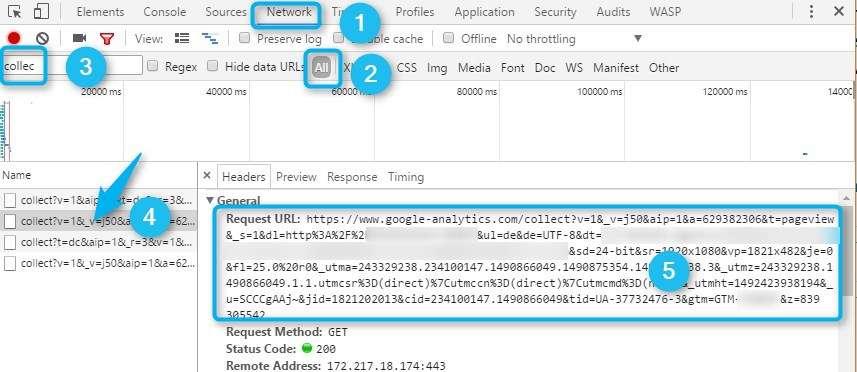 Übergabe Daten an Google Analytics