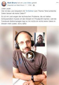 Livestream Zu Good Vs Bad Data Mit Till Büttner Web Analytics